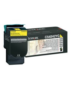 LEXMARK C540H2YG Yellow High Yield Toner 2k