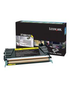 LEXMARK X748H1YG Yellow High Yield Toner 10k