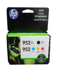 HP N9K28AN (952) Black XL and Tri Color Standard Yield Ink Cartridge