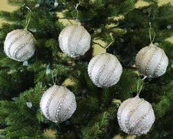 Sleetly™ Silver Jeweled Christmas Ball Ornaments