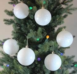 Sleetly™ 12pk 80mm Snowball Ornaments