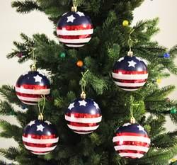 Sleetly™ Stars & Stripes Christmas Ball Ornaments