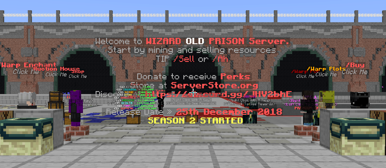 Minehut Featured Server: Wizard - Super League Gaming
