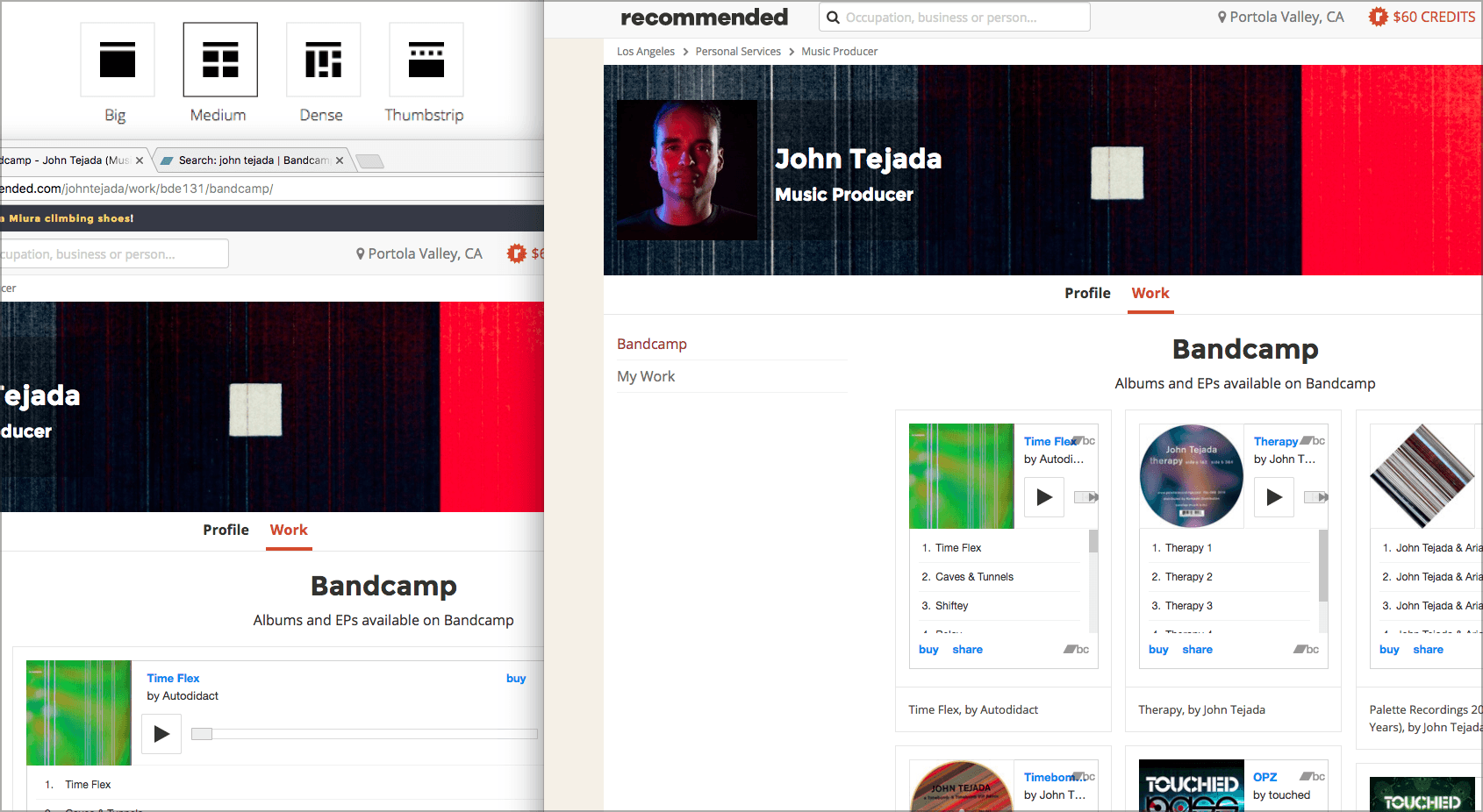Add Bandcamp projects to Recommended