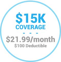 $15,000 Coverage for $21.99/mo
