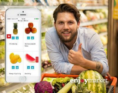 Enjoy Market es una plataforma online de delivery que hace las compras del supermercado, restaurantes y bebidas y las entrega en la casa del usuario a...