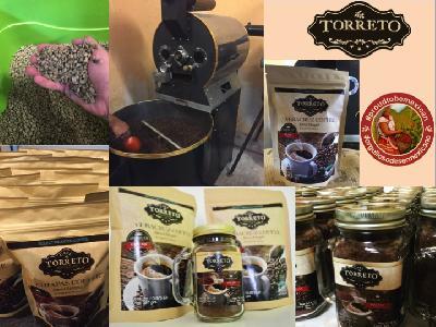 Beneficio, tostado y exportación de cafe en grano.  Envasado y exportación de cafe soluble