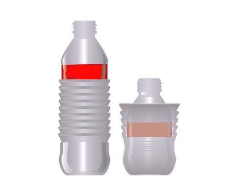 Botella de plástico la cual tiene la función de poder colapsarse o aplastarse y mantenerse en ese estado aun cuando se genere presión dentro de la...