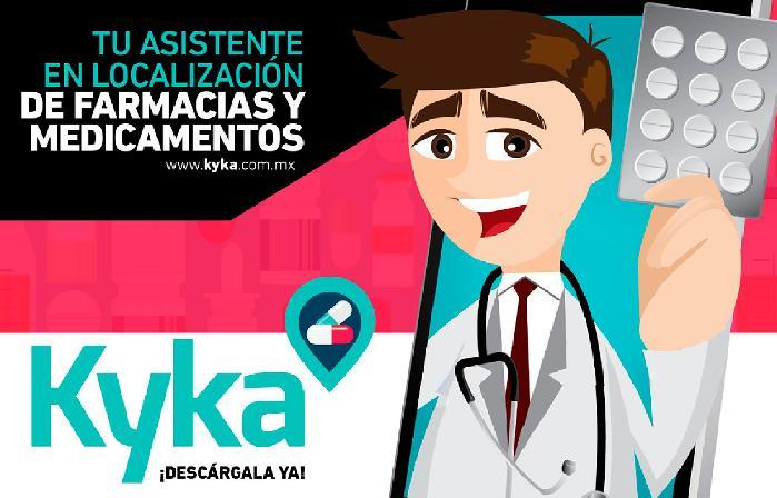 Kyka te permite encontrar medicinas y farmacias cerca de ti, cada vez que tengas necesidad de adquirir una medicina, solo envía el nombre de la medicina...