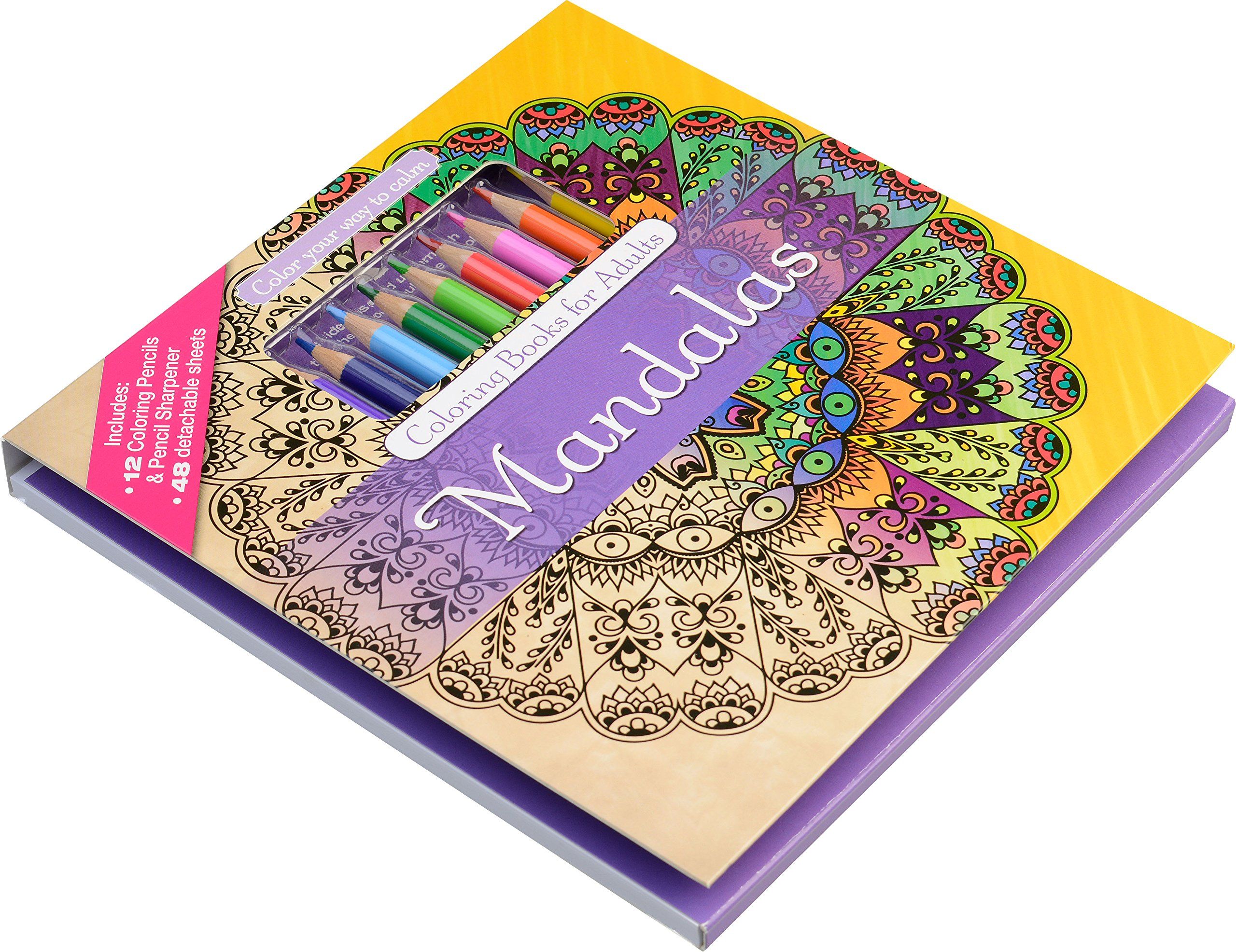 SoltekOnline: Kit - Libro de 48 Mandalas para Colorear + 24 Colores ...