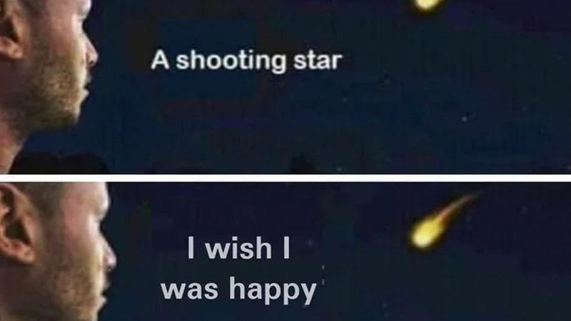 a shooting star rejecting wish meme generator soup memes. Black Bedroom Furniture Sets. Home Design Ideas