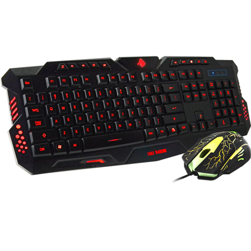 Kit Gamer Eagle Warrior Teclado y Mouse