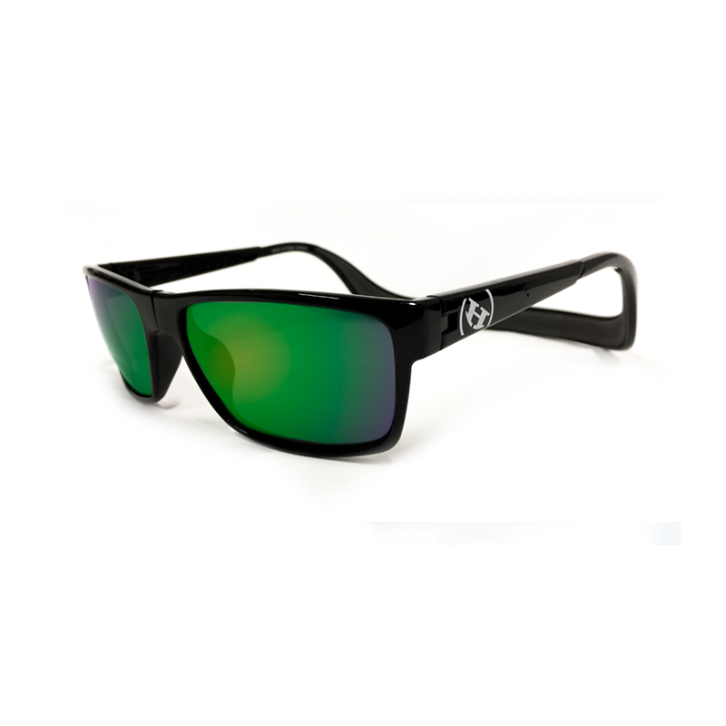 Monix - Black Gloss-Dark Grey/Green Polarized