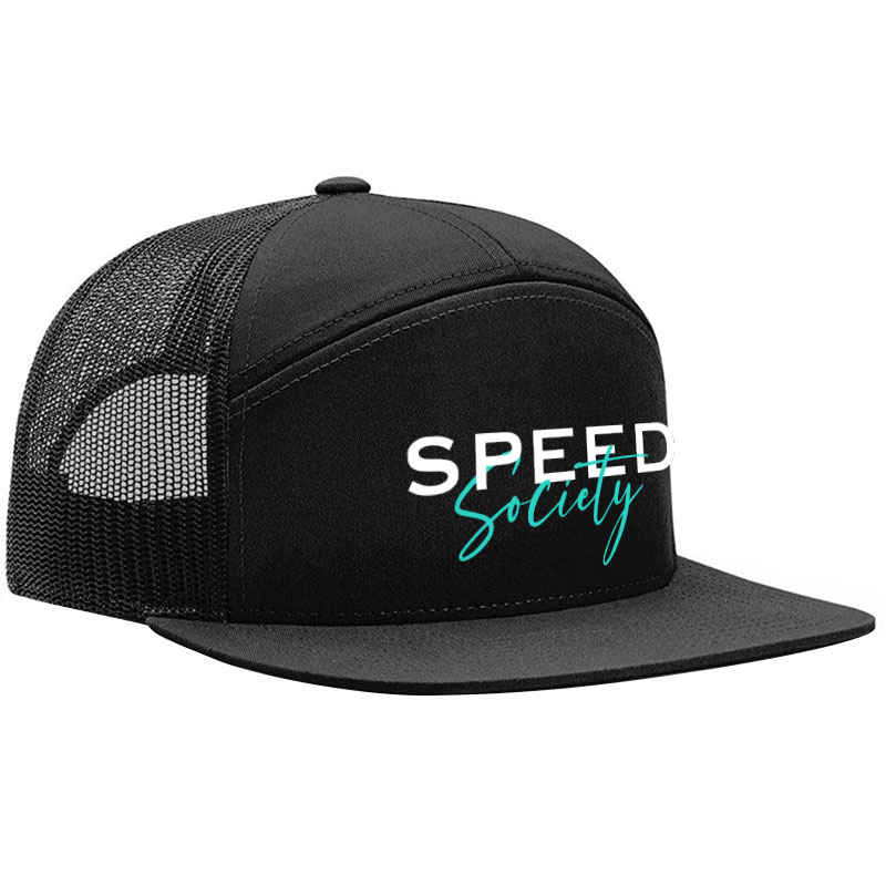 SS-HEX-Script-Hat-Black