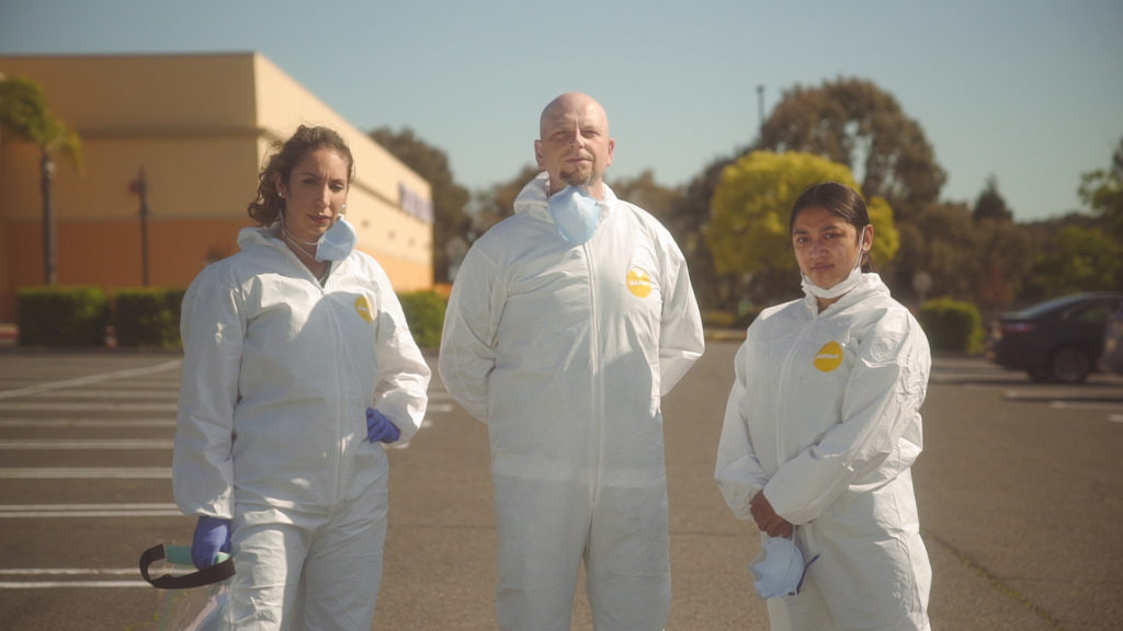 Image of three Carbon Health care professionals posing for the camera.