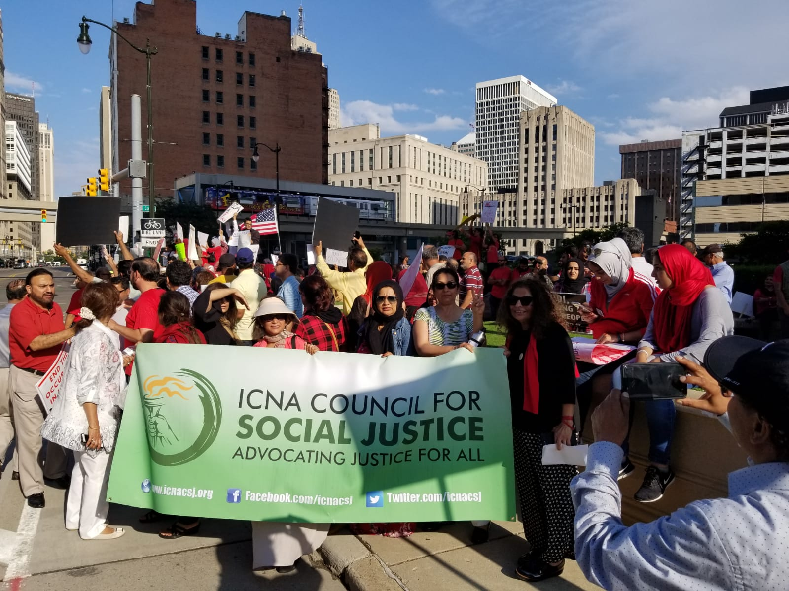 ICNA CSJ at Kashmir Rally in Detroit, Mich.