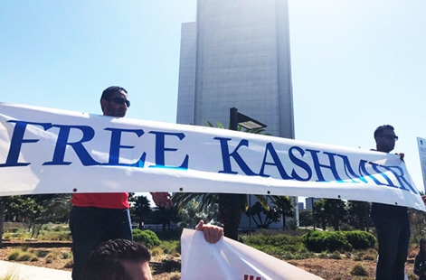 Rally for Kashmir in Los Angeles by ICNA CSJ