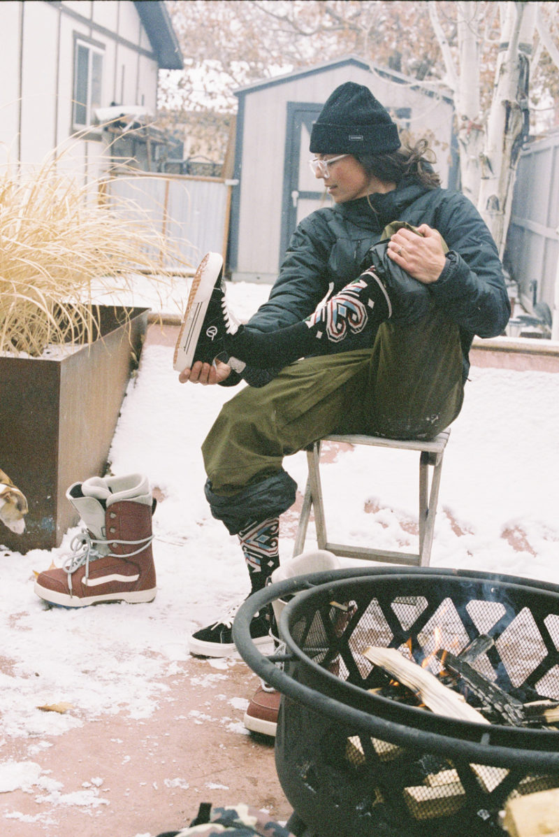 Temp Check Jill Perkins Snow Shoe Sock