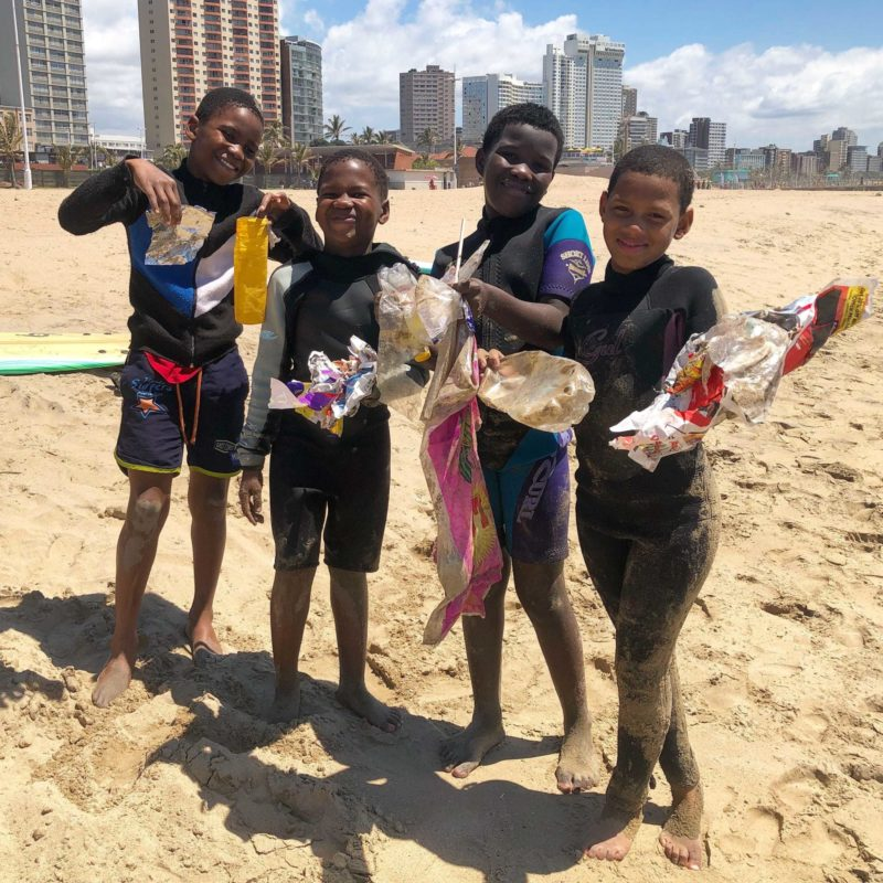 Nabil Surfers Not Street Children Trash Pickup