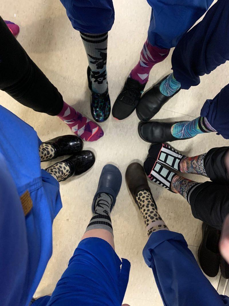 Scrubs sock circle