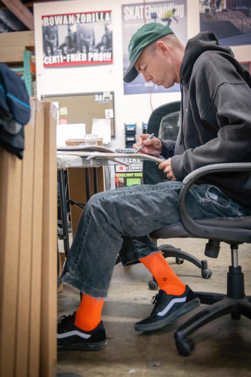 Temp check reynolds orange socks