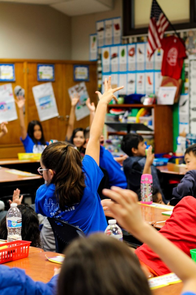 Read across america raised hand