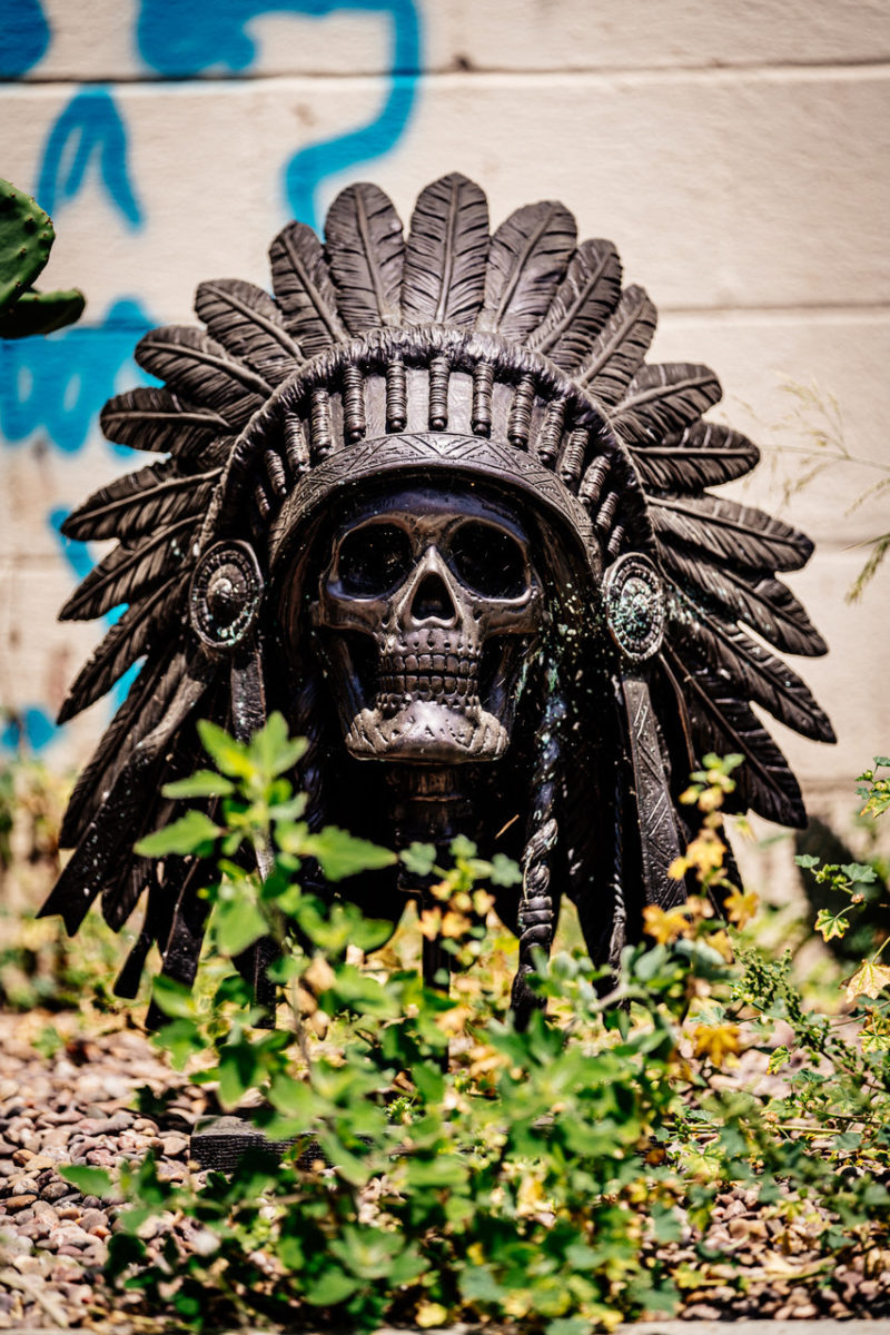 Wes lang skull headdress vertical