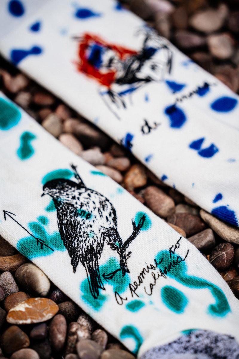 Wes lang socks pebbles diagonal vert