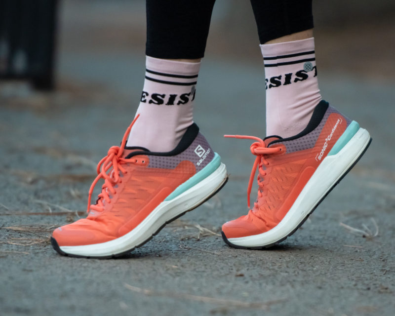 Lauren fleshman orange shoes