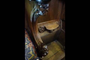 During long services medieval monks leaned against narrow wooden ledges know as misericords, informally known as 'mercy seats.'