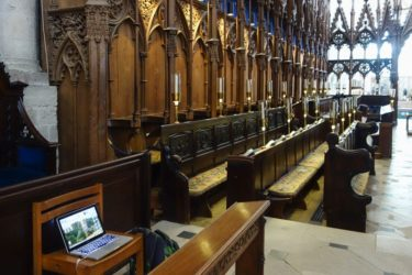 Medieval monks chanted the psalms in these choir-stalls of Winchester Cathedral.