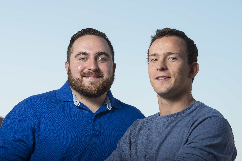 Undergraduates Daniel Becerra and Charlie Cox.