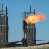 Natural gas flares in North Dakota