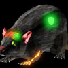 illustration of mouse with blood vessels and tumors glowing