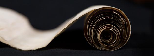 medieval manuscript scroll