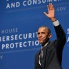 President Obama waving to the audience in Memorial Auditorium / Photo: L.A. Cicero