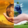 Planet Earth in person's hand