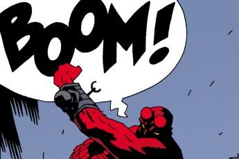 Hellboy comic strip illustration.