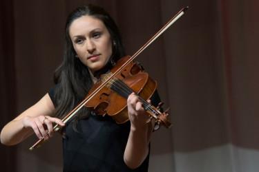 Violist Deanna Badizadegan plays during Session III: Inspiration. (Photo: Tamer Shabani)