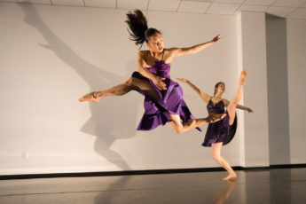 Dancers Cora Cliburn and Glory Liu