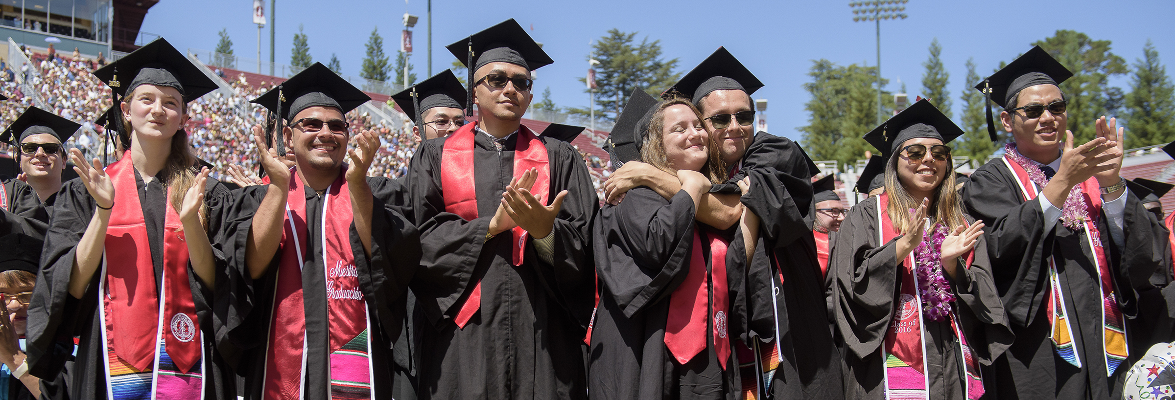 graduates at Stanford 125th Commencement Ceremony, Stanford Stadium.