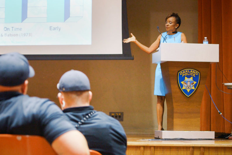 Jennifer Eberhardt speaks to Oakland PD