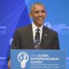 Barack Obama at lectern in Memorial Auditorium at GES 2016