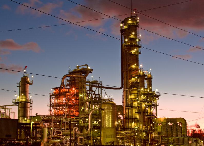 El Segundo Chevron oil refinery in Los Angeles
