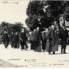 Inaugural procession with John C. Branner at the head