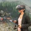Elise Ogle in VR lab