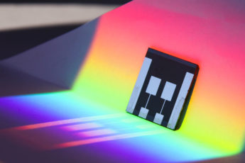 A tandem perovskite solar cell boosts efficiency by absorbing high- and low-energy photons from the sun.