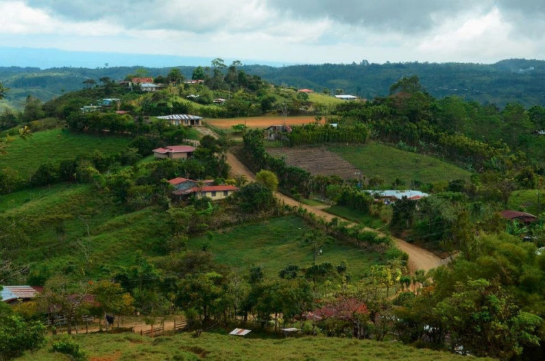 Costa Rican farming area