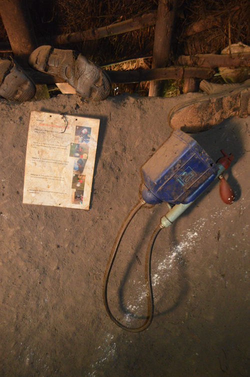 a LifeStraw filter device in a rural Kenyan home