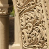 detail of carved sandstone arch
